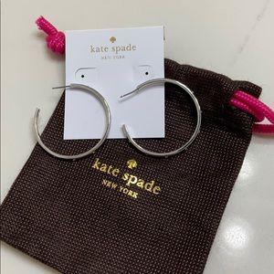 NWT Kate Spade Silver Hoop Earrings!